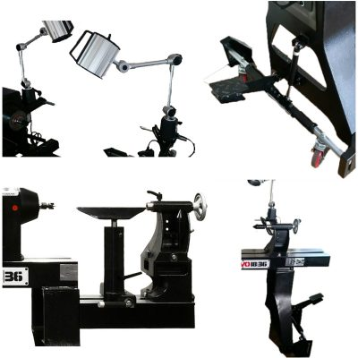 Woodworking Machinery collage lathe