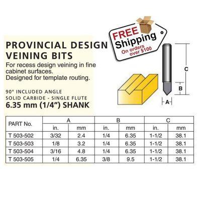 Provincial design veining bits