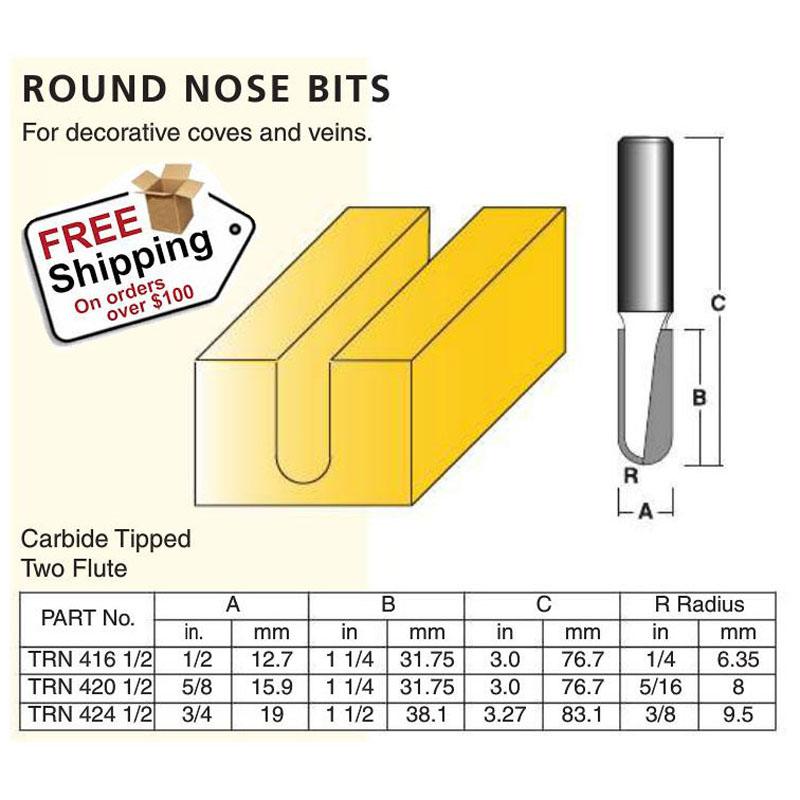 Round Nose Bits 1