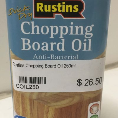 rustins chopping board oil
