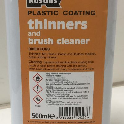 thinners and brush cleaner